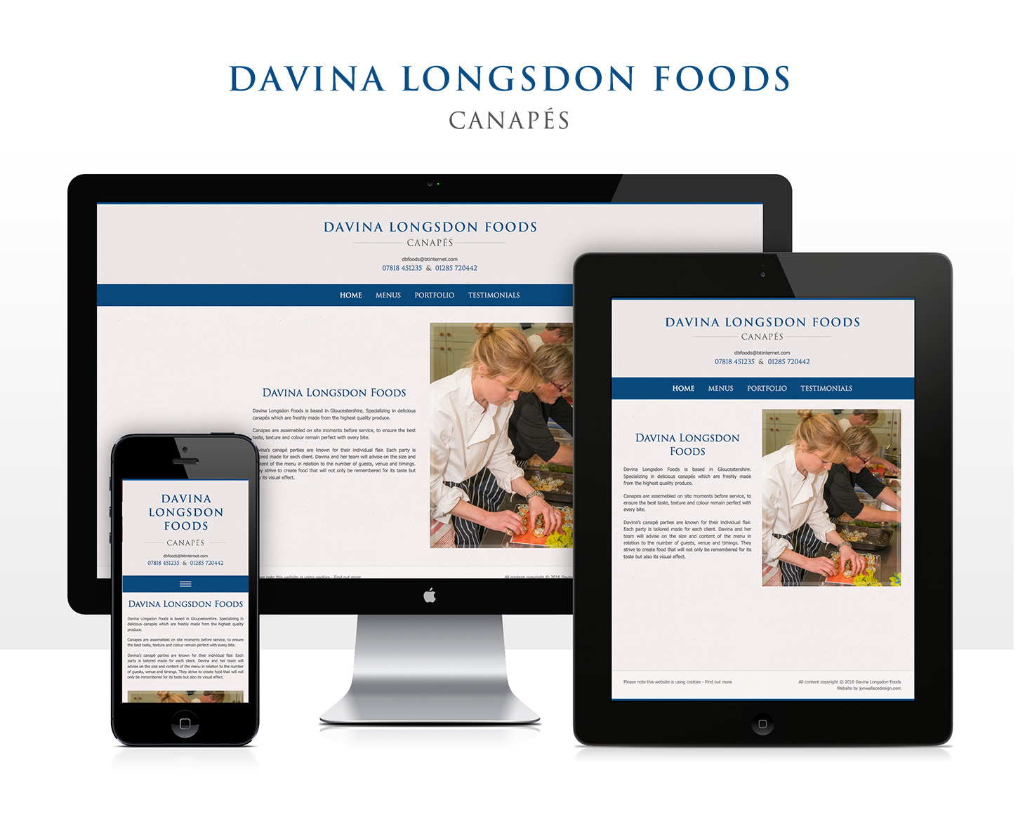 Davina Longsdon Foods website