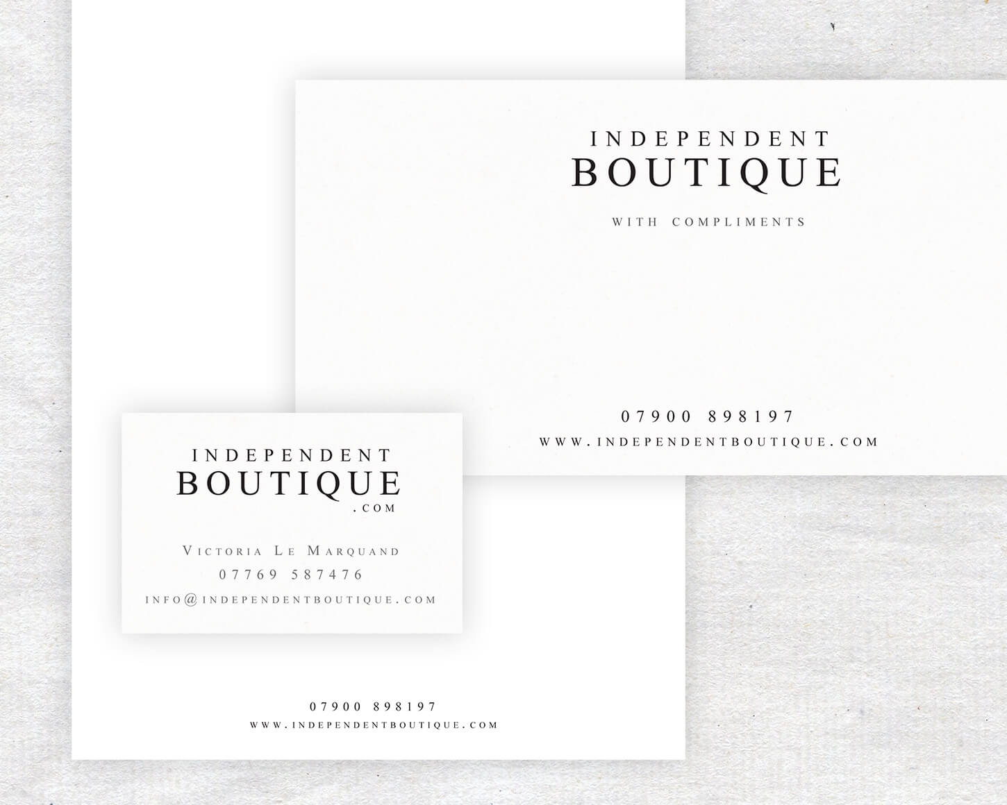 Independent Boutique branding