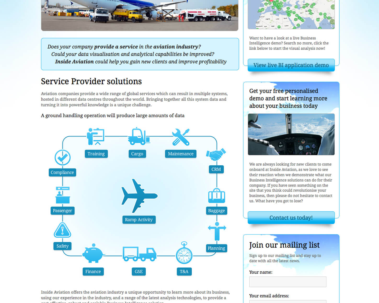 Inside Aviation website