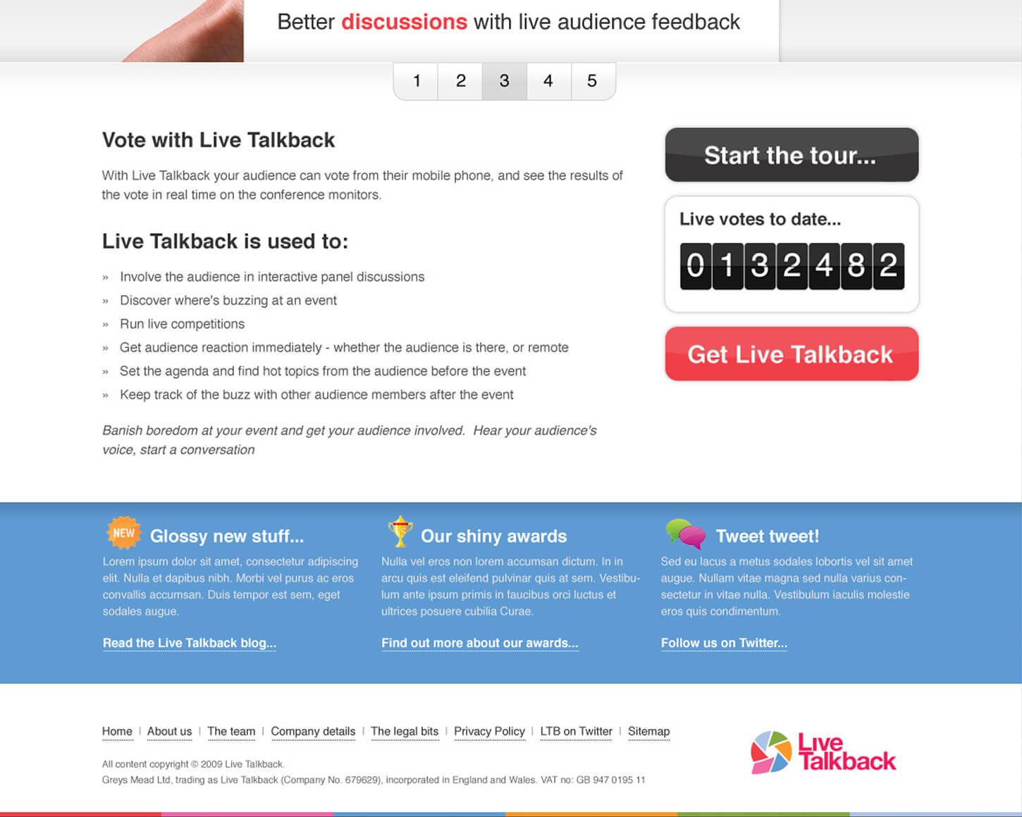 Live Talkback website