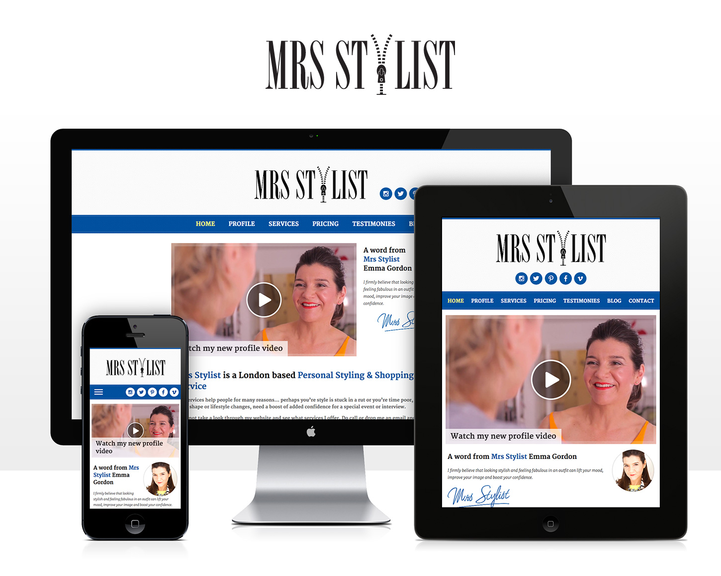Mrs Stylist website