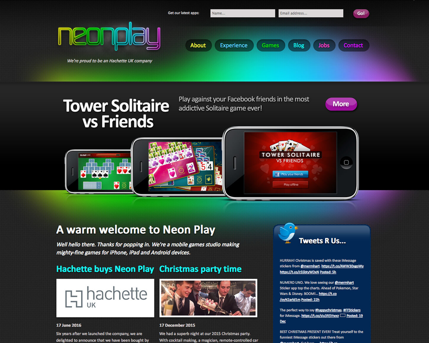 Neon Play website