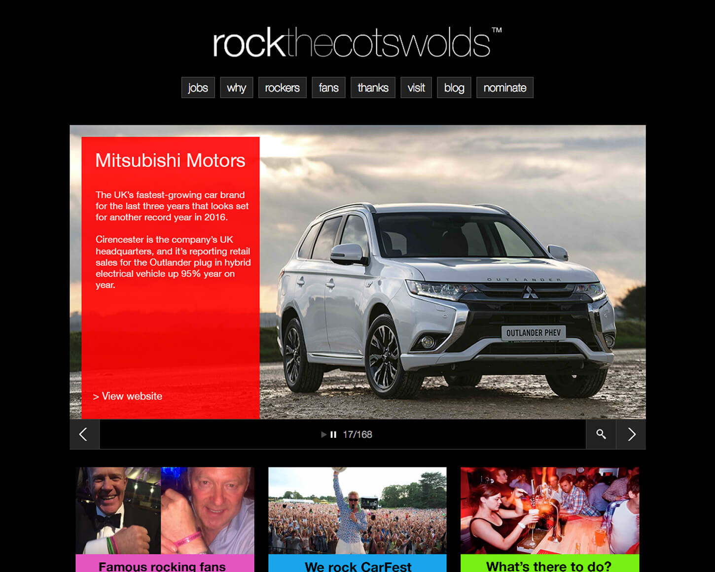 Rock the Cotswolds website