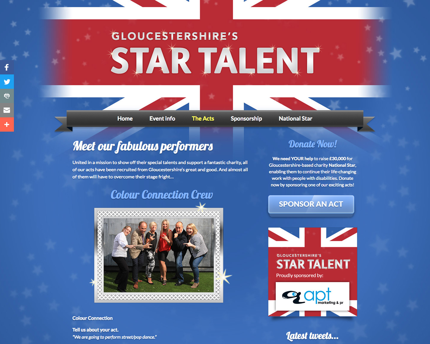 Gloucestershire's Star Talent website
