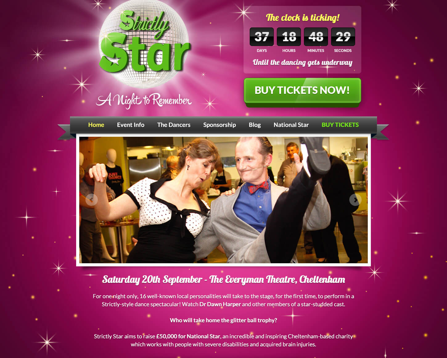 Striclty Star website detail page
