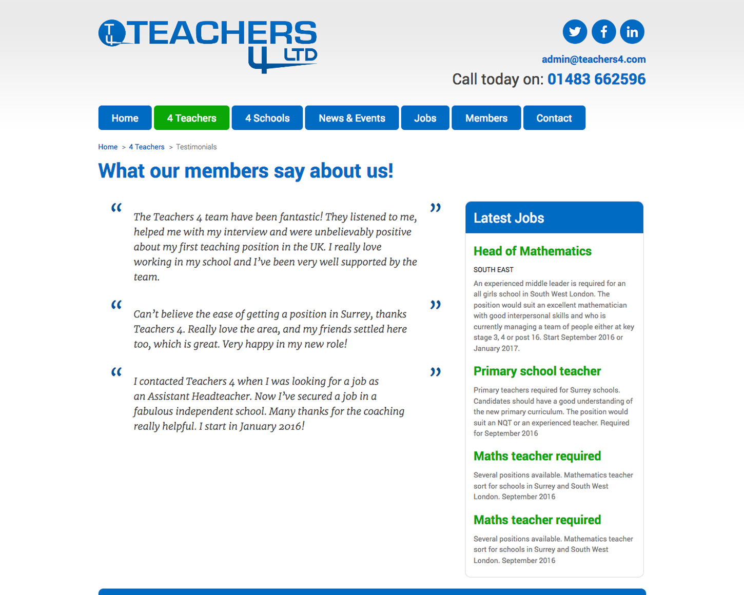 Teachers 4 website