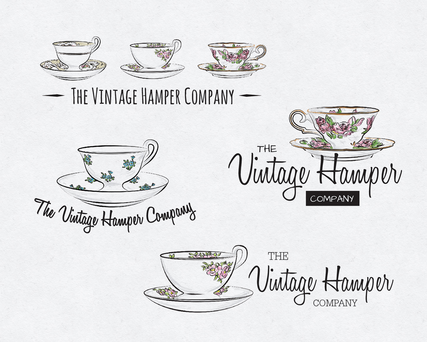 The Vintage Hamper Company branding