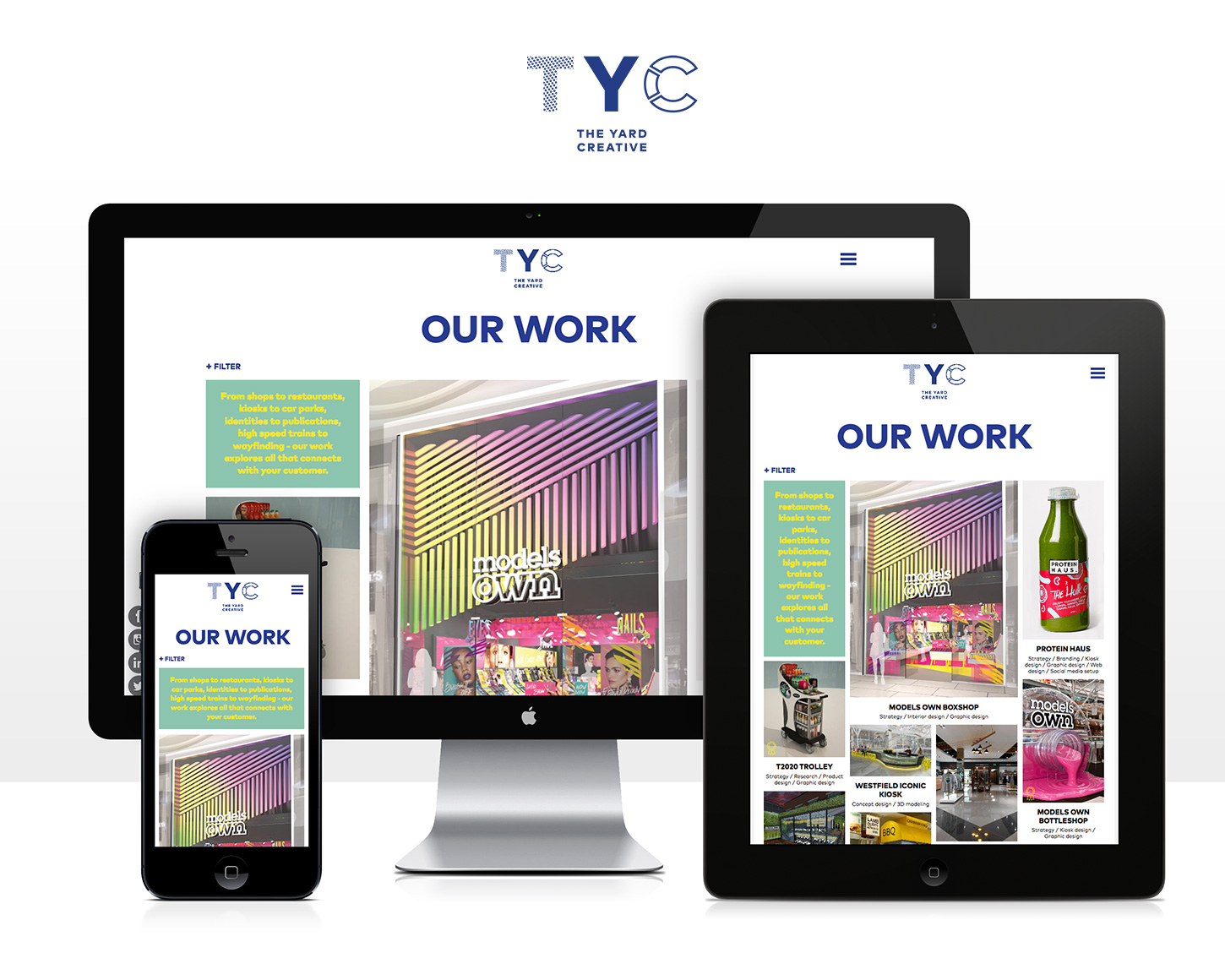 The Yard Creative website