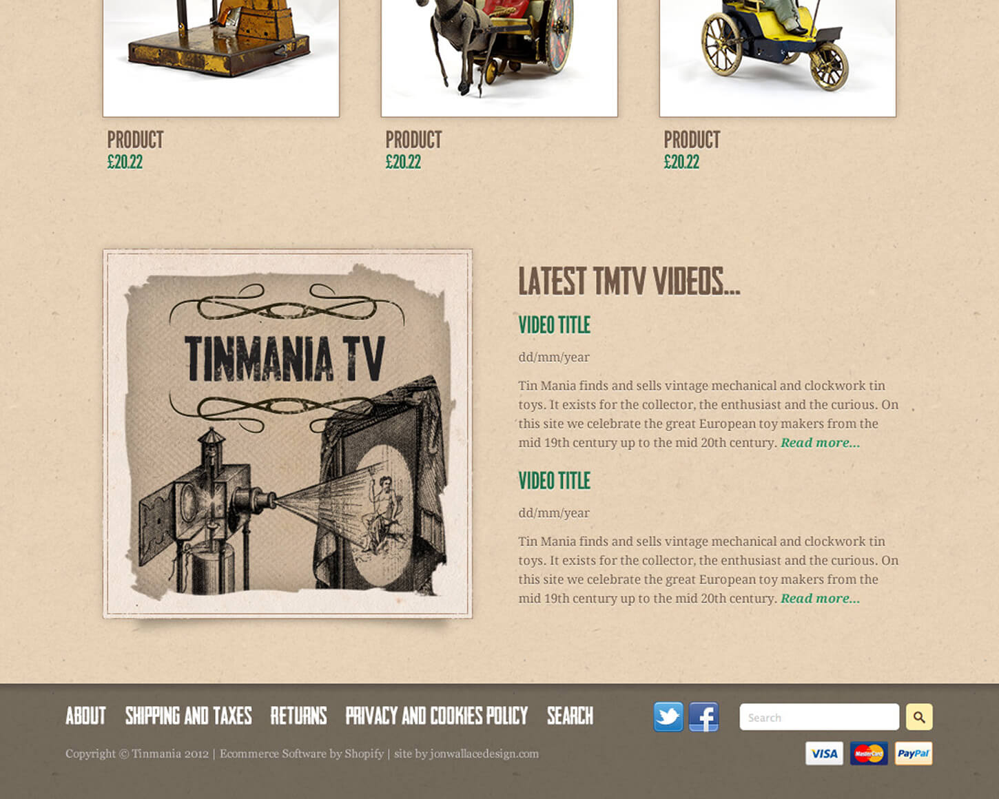 Tinmania website