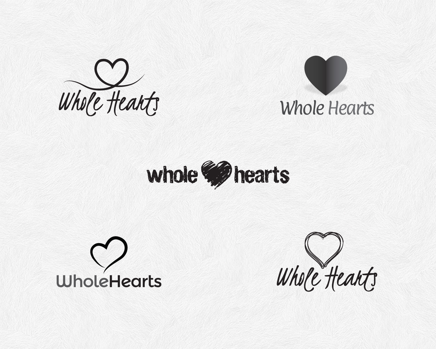 Whole Hearts branding